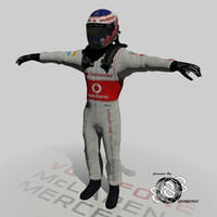 formula jenson button 2013 3d model