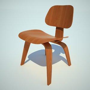eames dcw chair 3d x