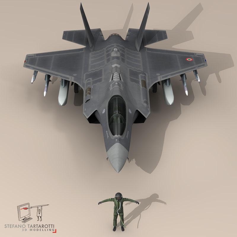 3d pilot - air force model