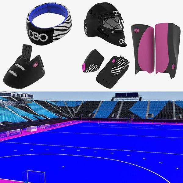 field hockey 3d model