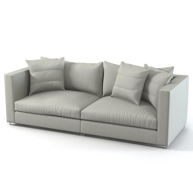 3d model flexform magnum sofa