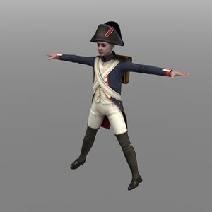 infantry fusilier french 3d model