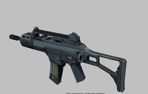 g36c attachments gun 3d obj