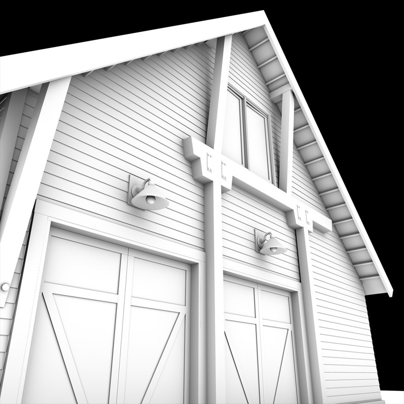 3d model duel car garage barn