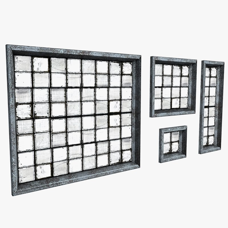 dirty windows industrial 3d model