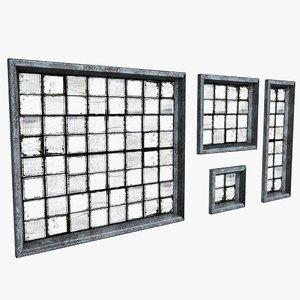 dirty windows industrial 3d model