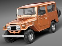 3d model of toyota land cruiser fj40