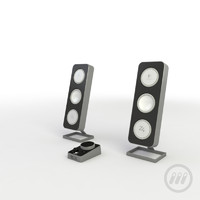 logitech speakers 3d model