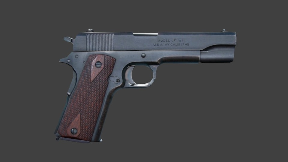 free 11 gun 3d model