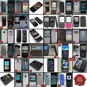 nokia phones v15 3d model