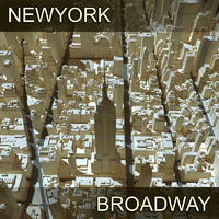 3d model new york broadway zone