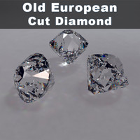 old european cut diamond 3d 3ds