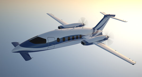 business aircraft c4d