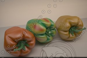 sweet pepper 3d model