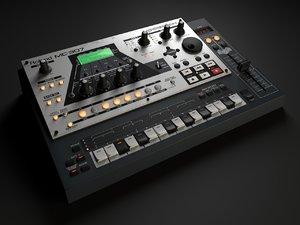 3d roland groovebox mc307 model
