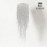 Rugiano Crystal Glass Chandelier