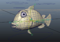 3d fish rigged model