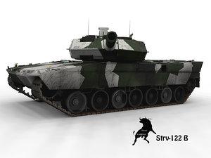 leopard winter scheme 3d model