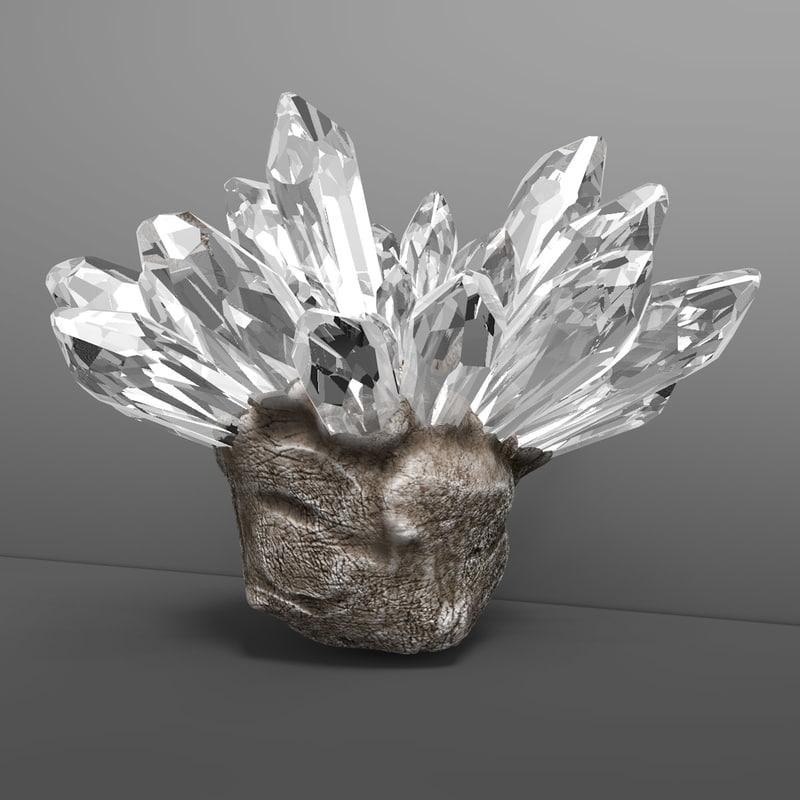 stone crystals 3d model