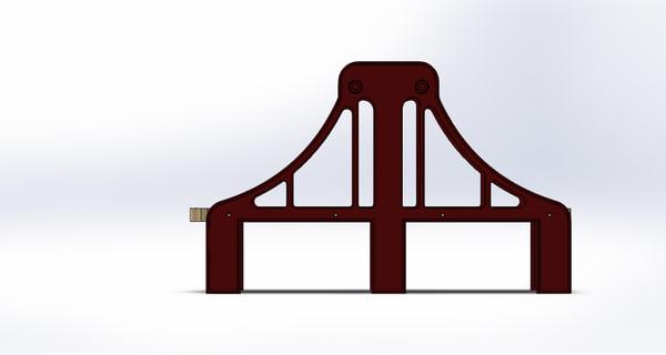 3d toy bridge train