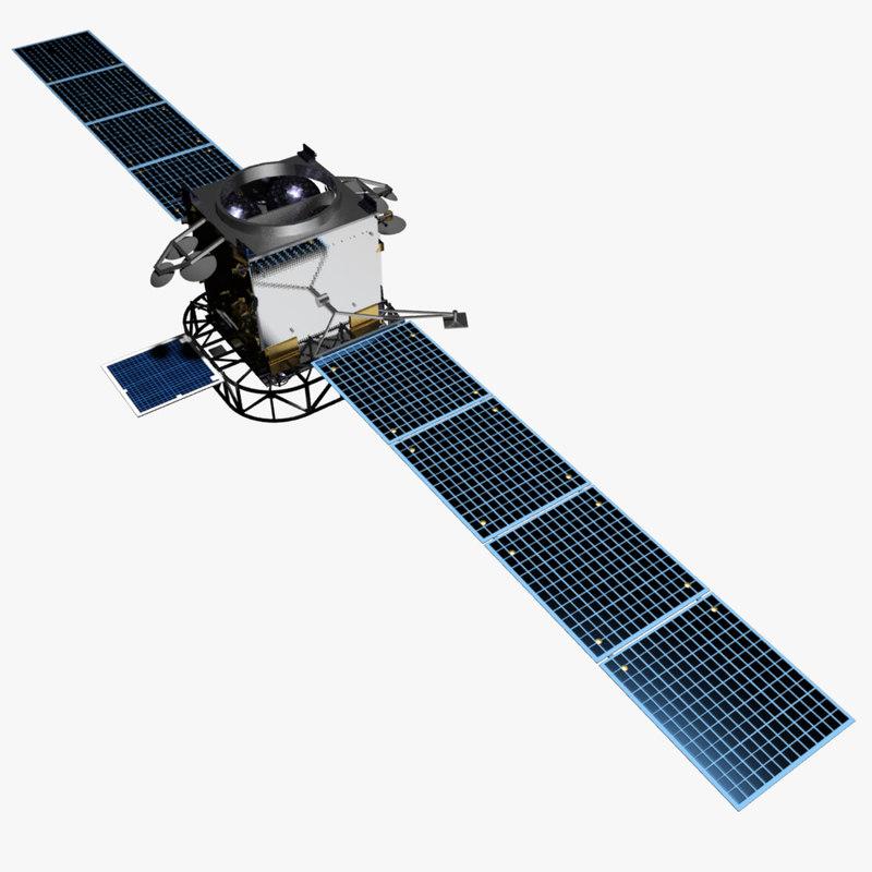 ultra follow-on satellite 3d model