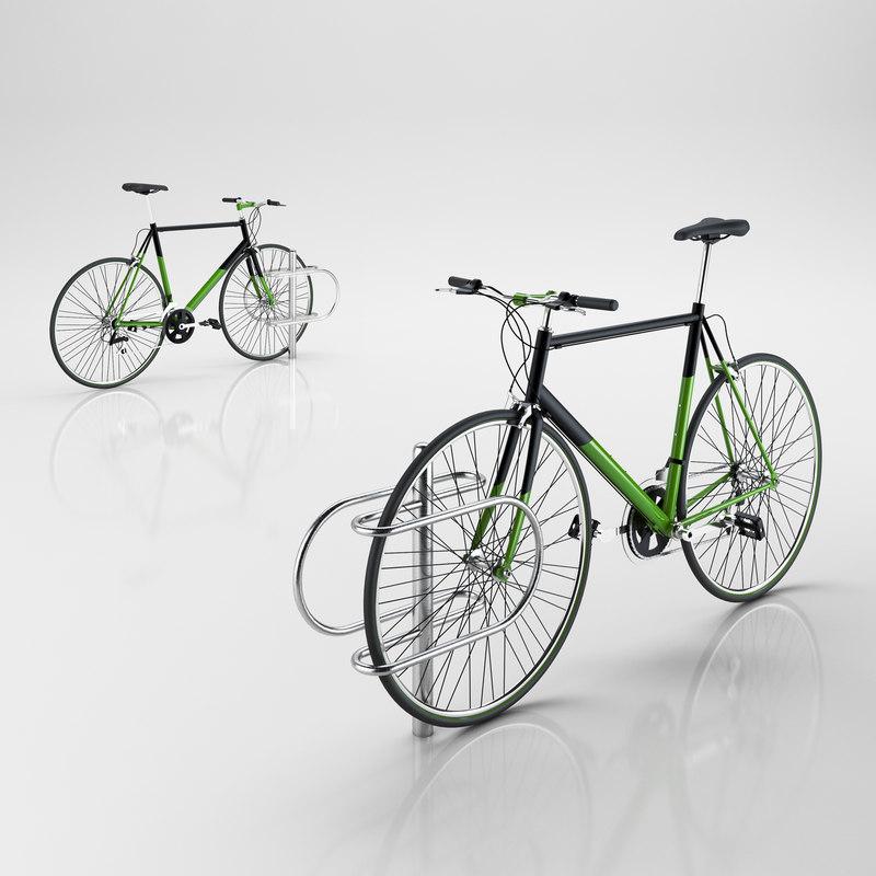 3d model bike rack