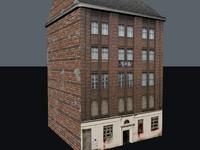 3d building zombie model
