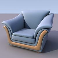 sofa armchair 3d 3ds
