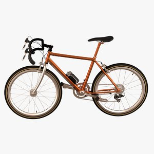maya realistic racing bicycle