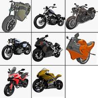 motorcycles 16 3d model