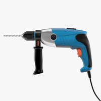 corded electric drill 3d model