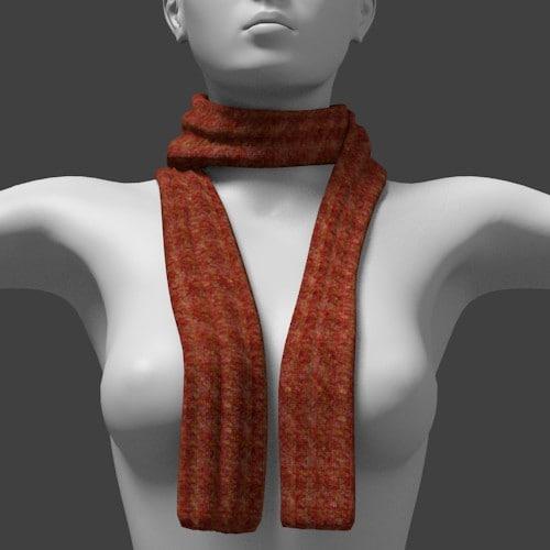 scarf fashion 3d obj