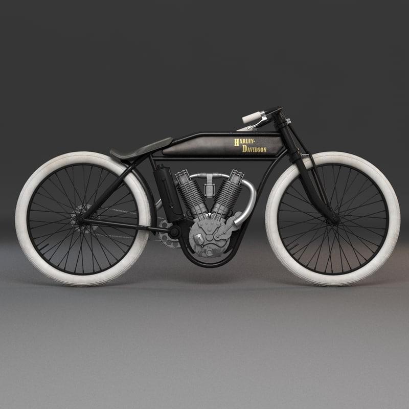 old harley davidson 3d model