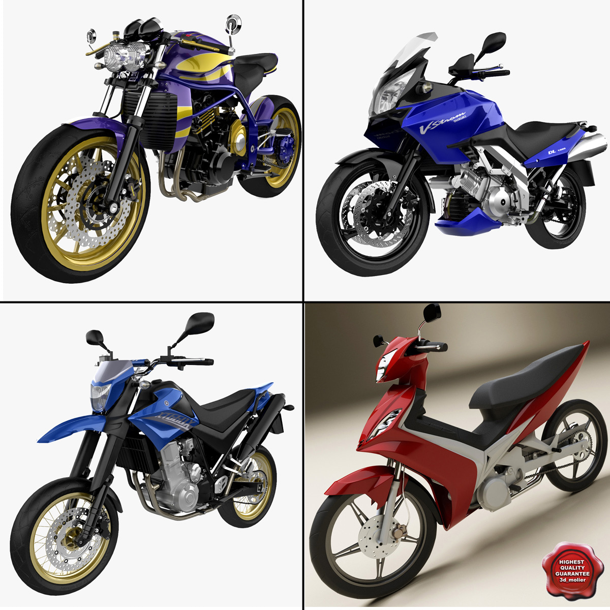 3d model motorcycles 9 cycle