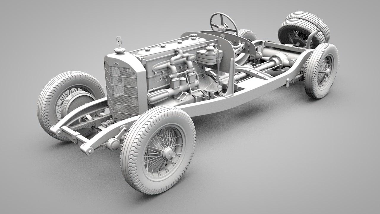 3d old mercedes model