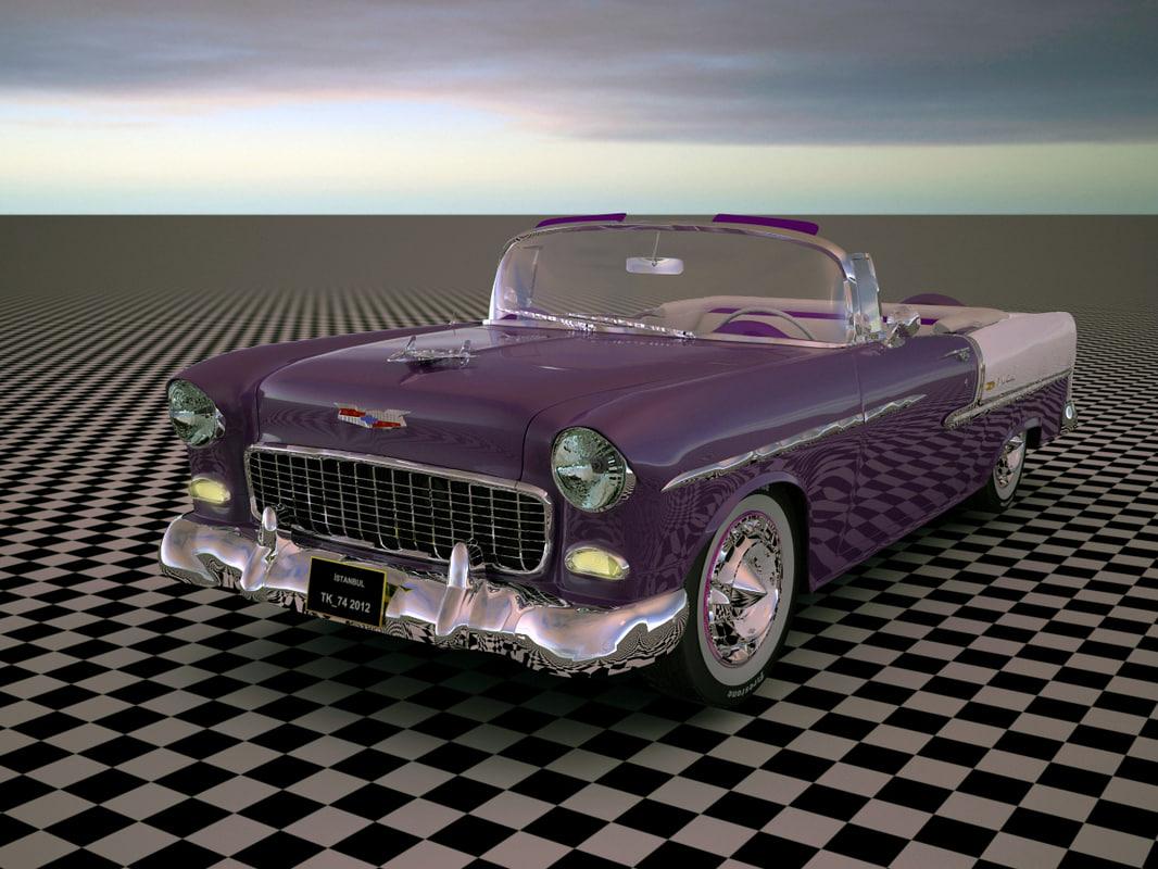 3d model 1955 bel air convertible