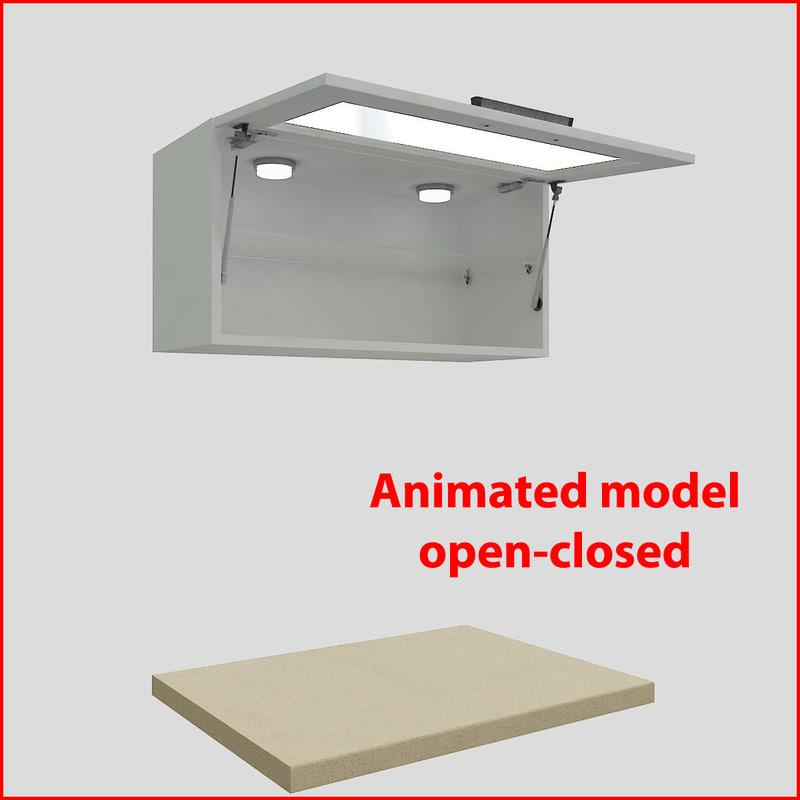 3d kitchen furnitures 80 cm