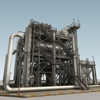 refinery parts 3d model