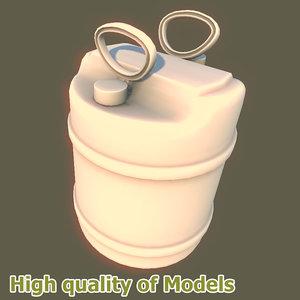 3ds max barrel plastic