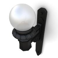 3d wall street lamp 02 model