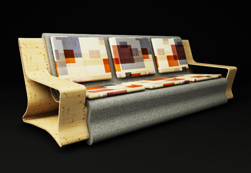 free c4d mode sofa concrete