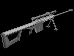 50 cal sniper rifle 3d max