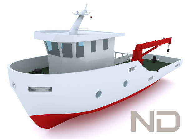 tugboat 15m solid modeled 3d model