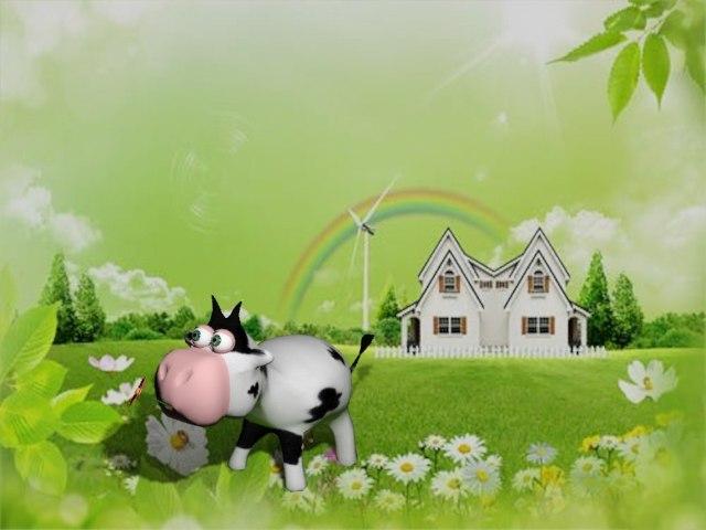 3dsmax cartoon cow