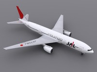 3d aircraft jal model