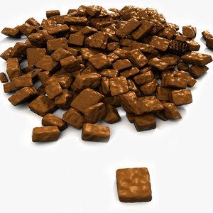 bonbon sugar candies 3d max