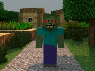 3d minecraft zombie model