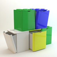 3d lego container model