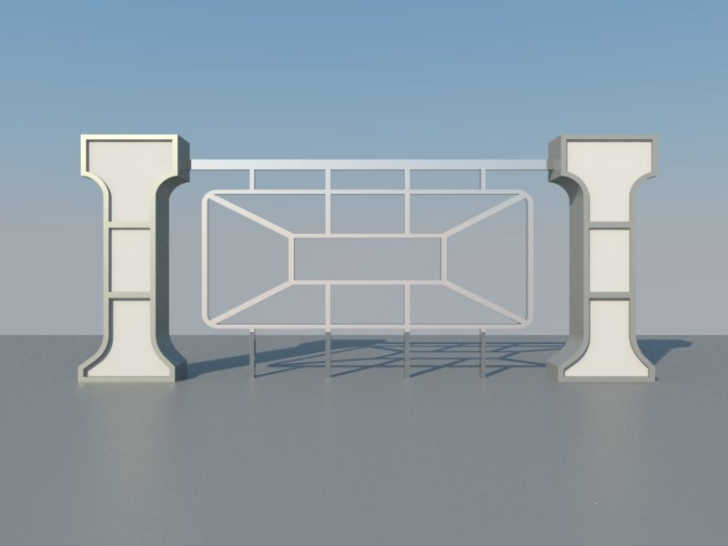 3d abu dhabi beach fence model