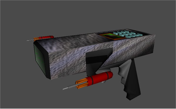 pistol toy phaser 3d model